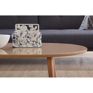 Table basse laquee taupe achat vente table basse for Table basse laquee beige