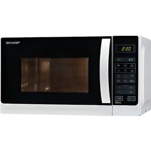 MICRO-ONDES SHARP R642WW -Micro ondes grill combiné blanc-20 L