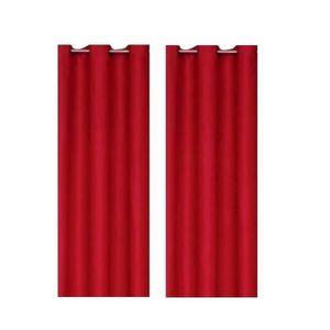 RIDEAU Paire de rideaux occultants 140x260 cm Rouge