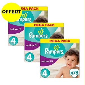 COUCHE PAMPERS Active Fit Taille 4 - 7 à 18 kg - 234 couc
