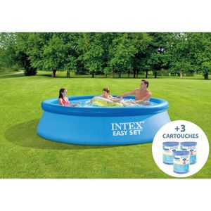 PISCINE INTEX Kit Piscine autoportante Easy Set - 3,05 m x