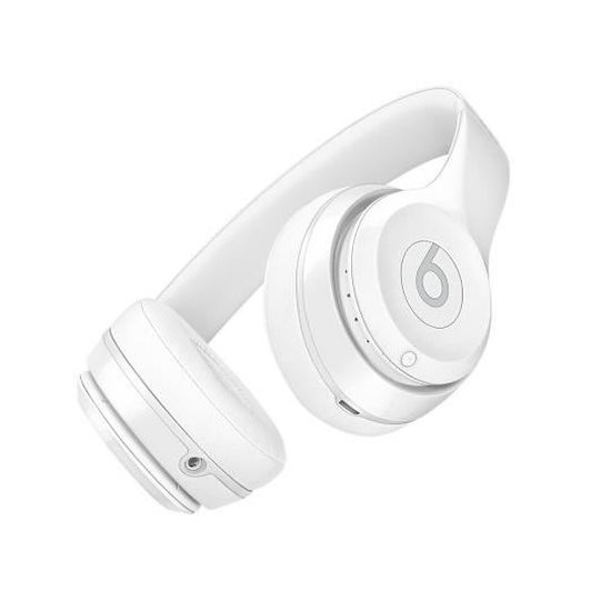 Beats Solo3 Wireless Casque Audio Bluetooth Blanc Verni Casque