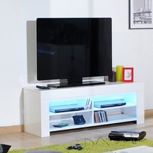 banc tv laque blanc achat vente banc tv laque blanc pas cher soldes cdiscount. Black Bedroom Furniture Sets. Home Design Ideas