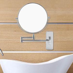 Bijoux chromé miroir salle de bains double face pivotant composent plateau de table miroir