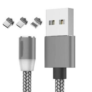 CÂBLE TÉLÉPHONE Câble chargeur magnétique rond Android type C - iO