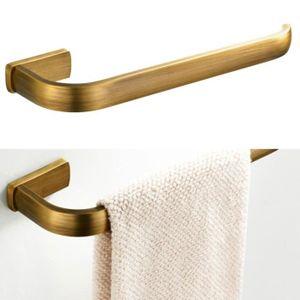 Hctina Barre de serviette Salle de bains Cuisine Support Mural Pour porte-serviettes Cuivre simple,30cm