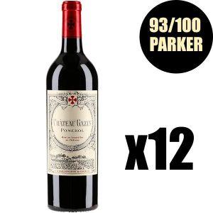 VIN ROUGE X12 Château Gazin 2015 75 cl AOC Pomerol Vin Rouge