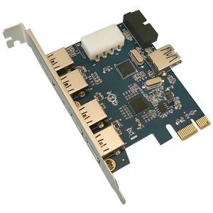 CARTE CONTROLEUR CARTE PCIE 4+1 PORTS USB3 + CONNECTEUR INTERNE 19