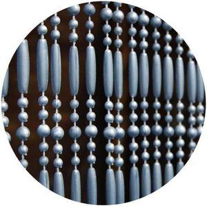 RIDEAU DE PORTE Rideau de porte en perles grises Frejus 90x210 cm