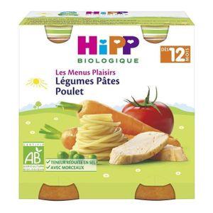 PLATS PRÉPARÉS SOIR HIPP BIOLOGIQUE Les menus plaisirs Légumes pâtes p