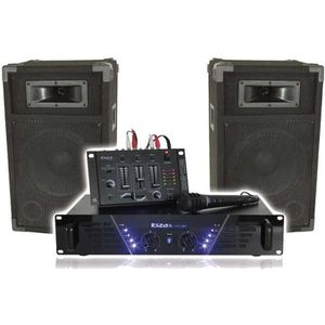 PACK SONO IBIZA DJ-300 Kit de sonorisation DISCO 480W