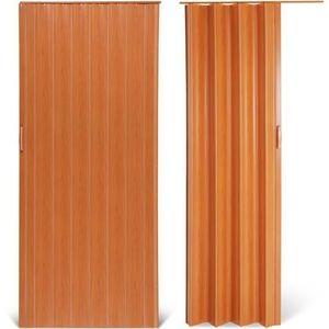 PORTE COULISSANTE Porte accordéon - 5 coloris au choix - cerise