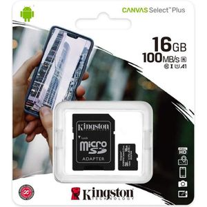 CARTE MÉMOIRE KINGSTON Canvas Select Plus SDCS2 16Go Micro SD Ca