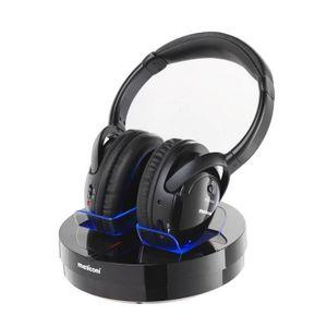 CASQUE - ÉCOUTEURS MELICONI HP300 Casque sans fil pour TV, Hi-Fi, ipo