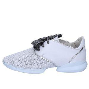 BASKET GUARDIANI Chaussures Femme Baskets cuir Blanc AB76