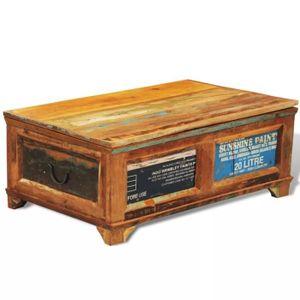 TABLE BASSE Table basse avec espace de rangement vintage Bois