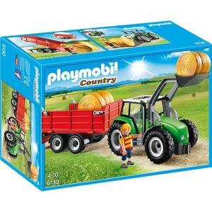 UNIVERS MINIATURE PLAYMOBIL 6130 - Country - Tracteur avec Pelle et