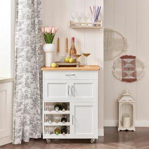 DESSERTE - BILLOT SoBuy® FKW45-WN Desserte Chariot de cuisine de ser