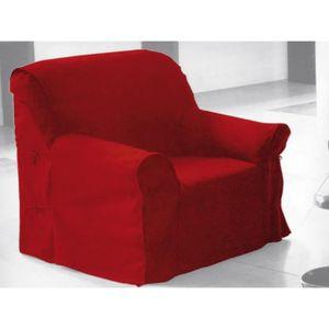 HOUSSE DE FAUTEUIL Housse de fauteuil en coton PANAMA rouge.