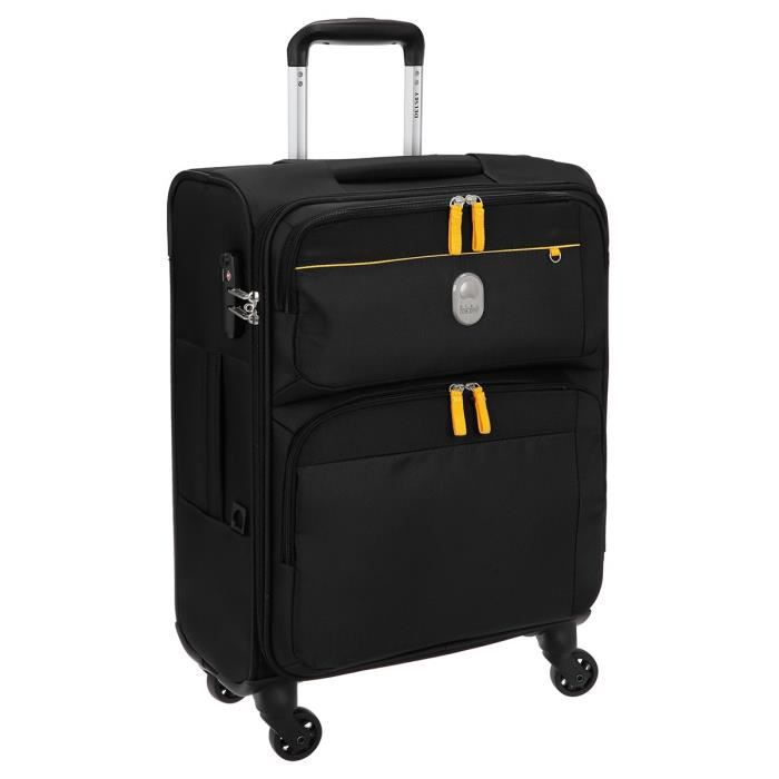 visa delsey valise trolley souple 4 roues 55cm dorset noir noir achat vente valise bagage. Black Bedroom Furniture Sets. Home Design Ideas