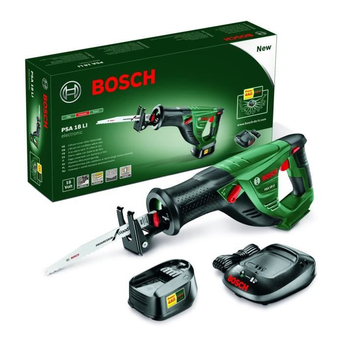 bosch scie sabre psa 18 li 1 batterie 18v 2ah achat. Black Bedroom Furniture Sets. Home Design Ideas