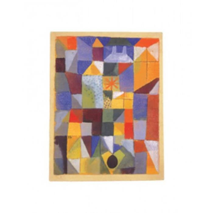 Paul klee poster reproduction composition urbaine aux for Fenetre urbaine