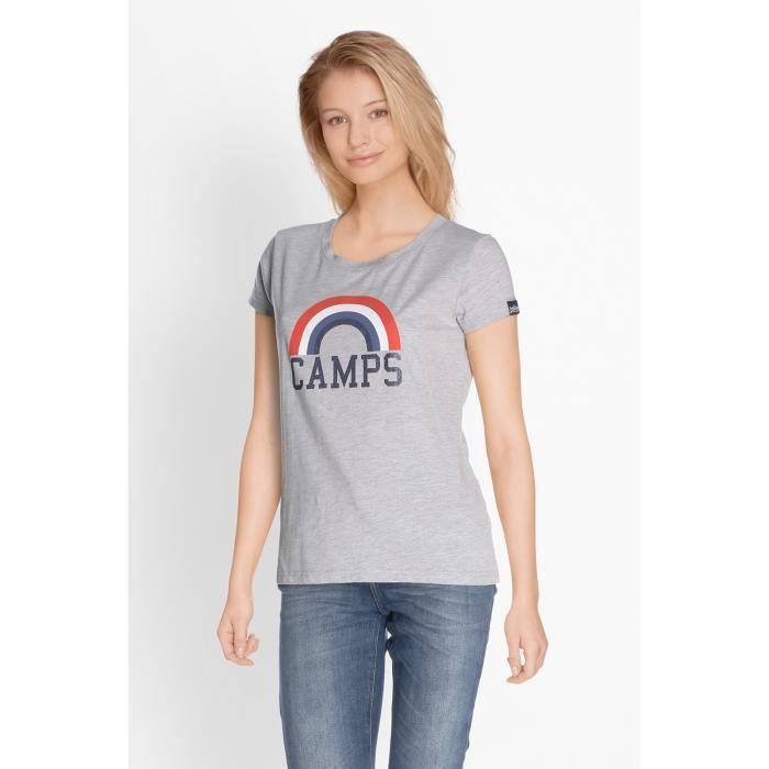 CAMPS T-shirt Manches Courtes - Femme - Bleu ciel