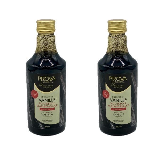 Lot 2x Extrait vanille Bourbon de Madagascar avec graines - Prova Gourmet - bouteille 250ml