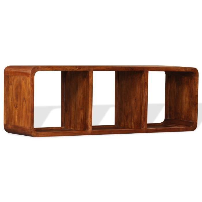 Meuble TV, Buffet Bas MEUBLE HI-FI Pour Salon Haut de gamme & CHIC - Armoire tele Table television Bois massif avec finitio ®OXGDRA®