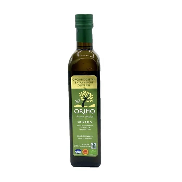Huile d'olive Bio Grecque extra vierge AOP - Orino - bouteille 500 ml