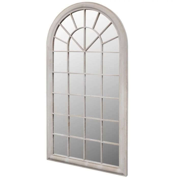 Top Miroir de jardin d'arche rustique - Style baroque Pour Salon Chambre Dressing 60x116 cm Intérieur-extérieur ☺513043