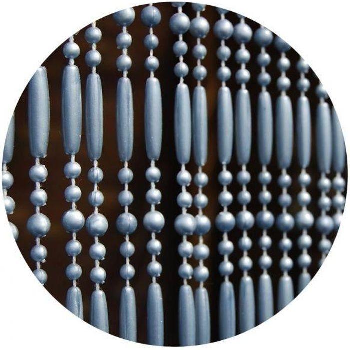 Rideau de porte en perles grises Frejus 90x210 cm 294306_3