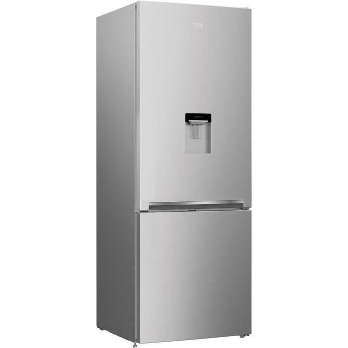 BEKO RCNE560K40DSN Réfrigérateur congélateur bas - 497 L (352+145) - Froid ventilé - NeoFrost - Gris acier