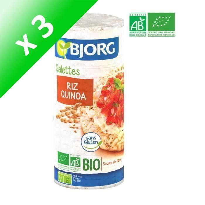 [LOT DE 3] BJORG Galette Quinoa Bio 130g