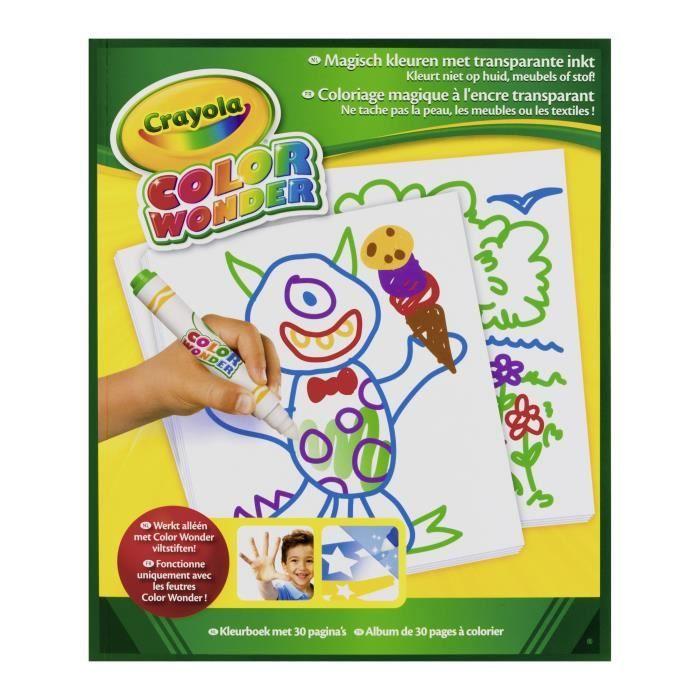 Crayola Color Wonder - bloc de dessin neutre 30p.