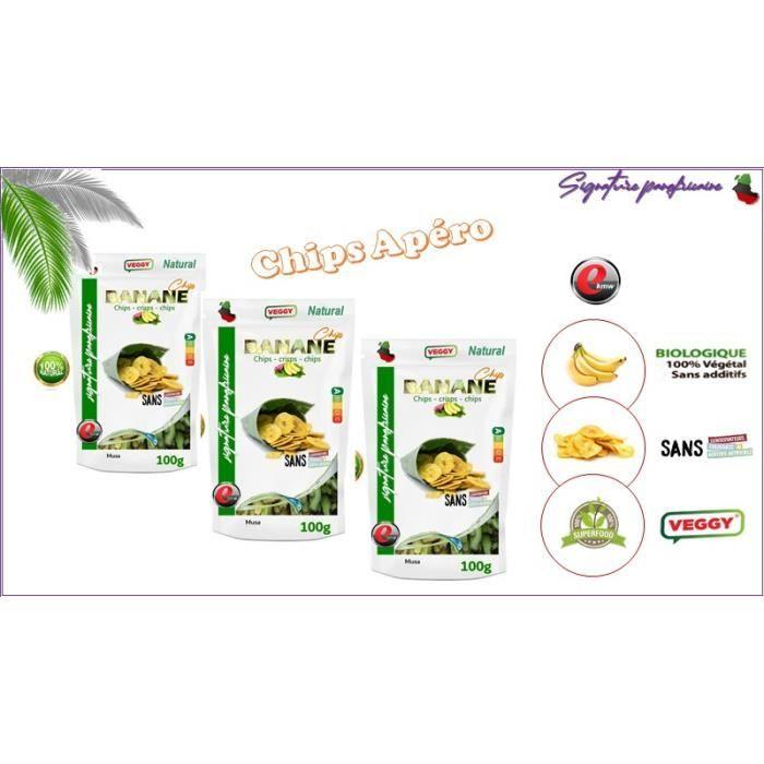 Chips de banane non-sucrées - sélection panafricaine - 200g