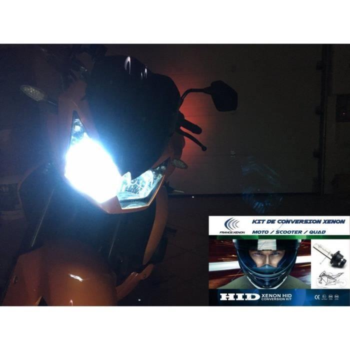 Pack kit(s) xénon pour votre YAMAHA DT 125 E (1G0) - Feux de croisement et plein phare - Processeur Numérique 32bits - Ampoules mét