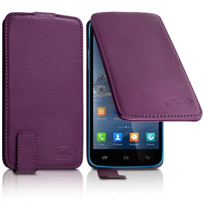 Housse Etui Clapet Couleur Violet Universel S pour Blackview A5
