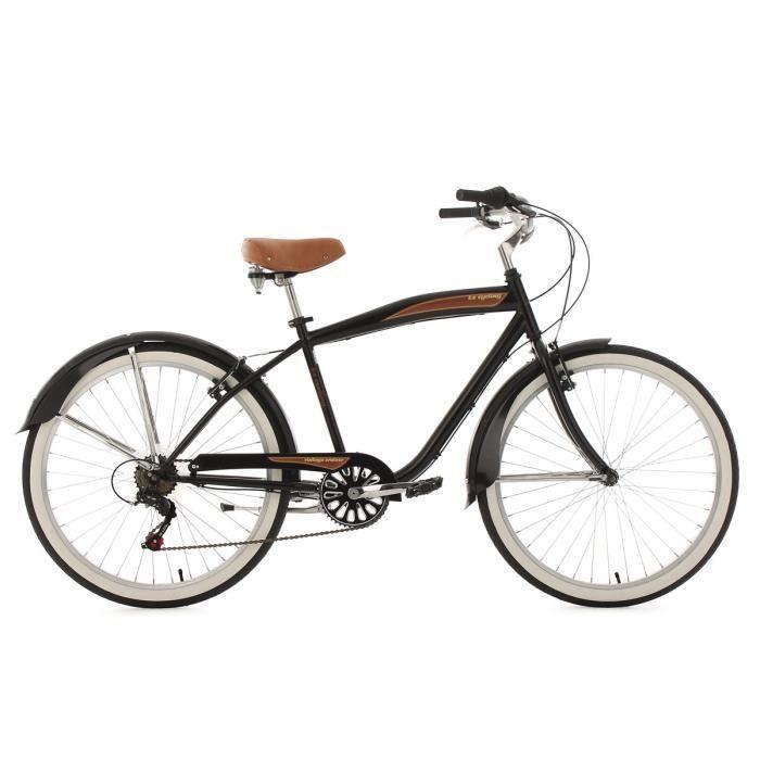 Beachcruiser 26'' Vintage noir TC 46 cm KS Cycling