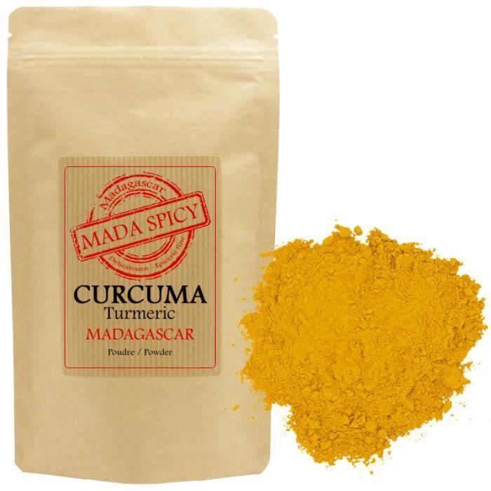 Curcuma poudre de MADAGASCAR 1000g-Agriculture Durable- sachet zip alimentaire.