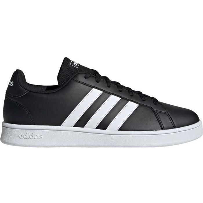 Chaussure adidas Tennis Court Trainer pour Homme Grand Court Base Noire / Blanche