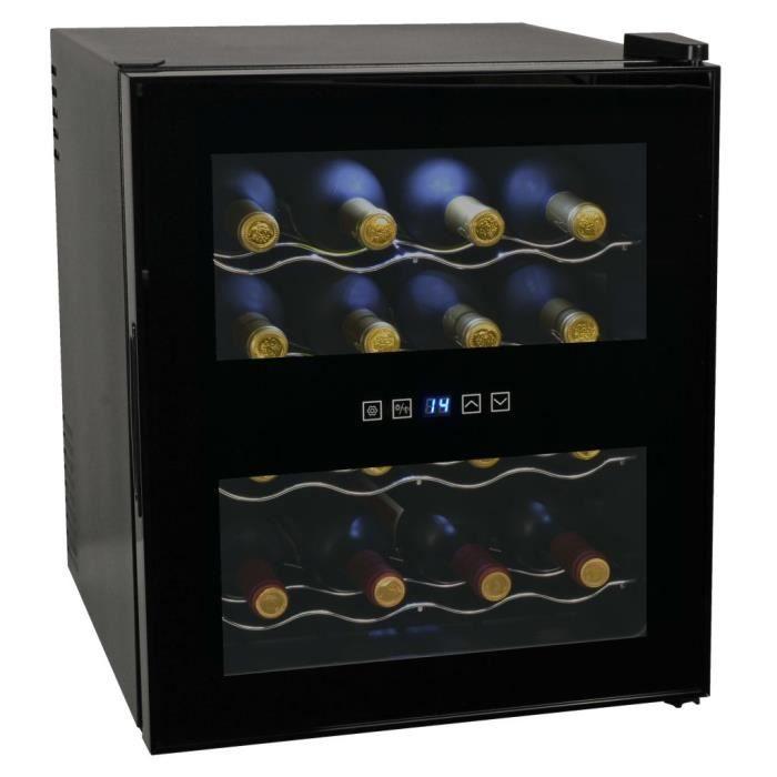 Frigo à vin 48 L 16 bouteilles Affichage LCD Cave à vin de service Cave à vin de vieillissement
