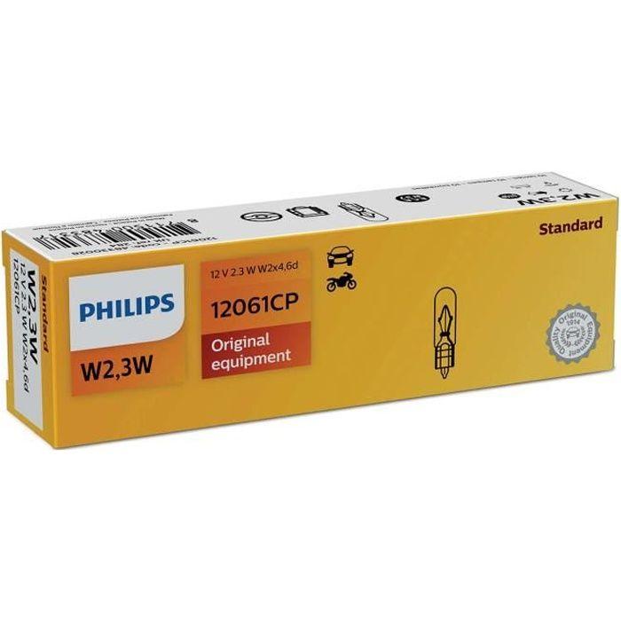 10 ampoules PHILIPS T5 2.3W 12V W2x4.6d