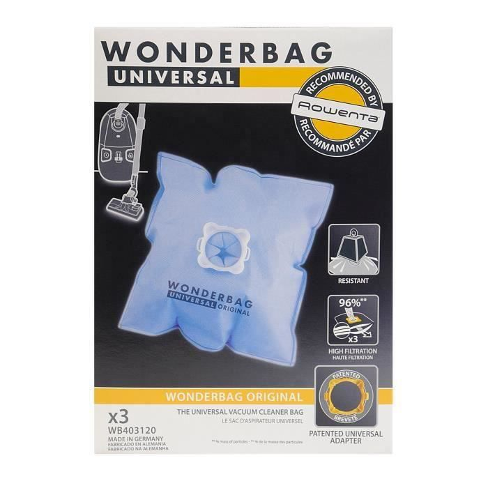 3 sacs aspirateurs universels - Wonderbag WB403120