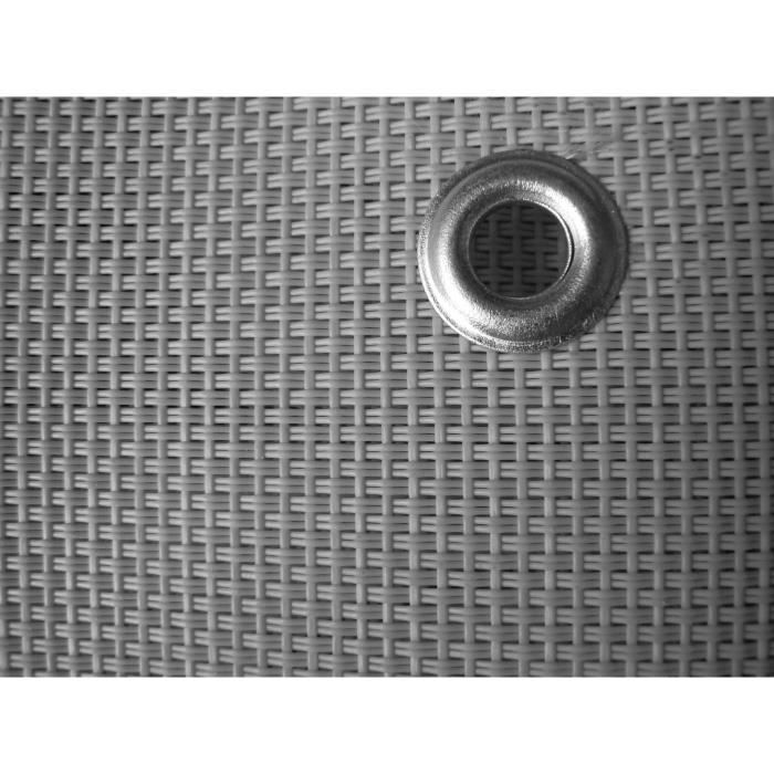 IDEAL GARDEN Brise vue 520g - Confidence - Spécial Balcon - 0.9 x 3 m - Gris