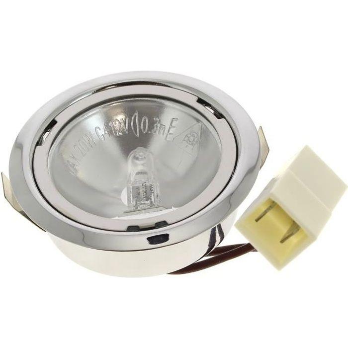 Spot + ampoule halogene 12v 20w pour Hotte Bosch, Hotte De dietrich, Table induction De dietrich, Hotte Siemens, Droguerie