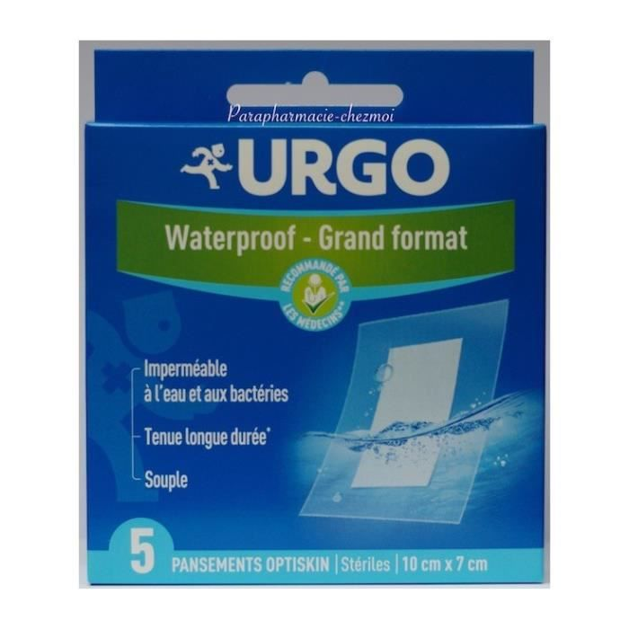 Urgo Waterproof Grand Format 5 Pansements