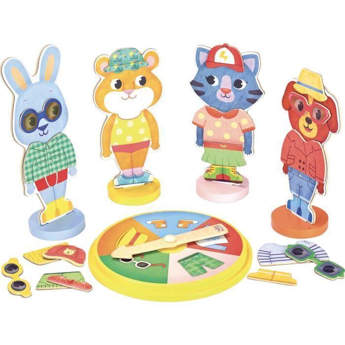 Bingo des Animaux Multicolore