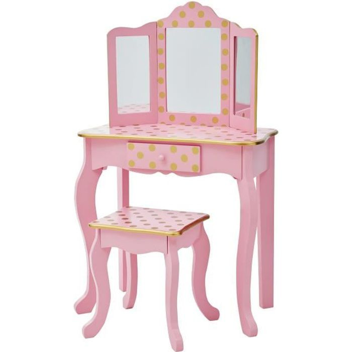 COIFFEUSE Coiffeuse enfant Teamson bois table maquillage mir