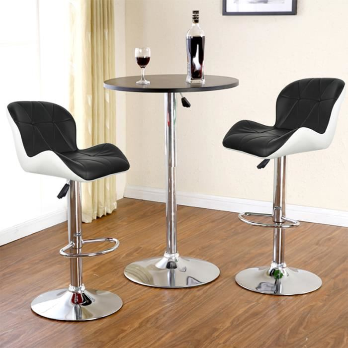 tabouret de bar noir et blanc achat vente tabouret de bar noir et blanc pas cher cdiscount. Black Bedroom Furniture Sets. Home Design Ideas